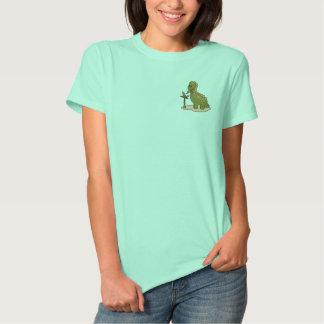 Green Dinosaur Embroidered Shirt