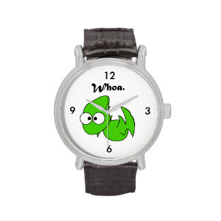 Green Dinosaur Pterodactyl or Dragon Whoa Cartoon Watches
