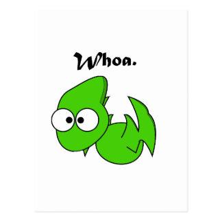 Green Dinosaur Pterodactyl or Dragon Whoa Cartoon Postcard