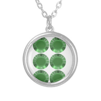 GREEN DISKS - JEWELRY