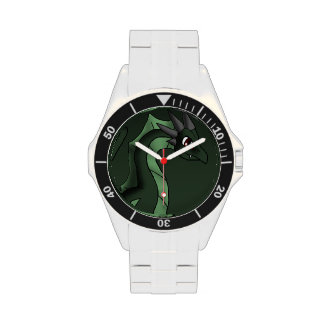 Green Dragon 6-7-13 Fantasy Cartoon Art Wrist Watches