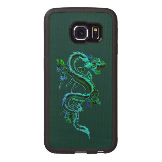 Green Dragon Wooden Samsung Galaxy S6 Edge Case
