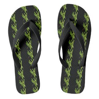 Green Dragonfly Flipflops Thongs