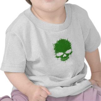 Green Dripping Splatter Skull T-shirt
