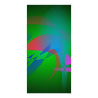 Green Earth Abstract Art Custom Photo Card