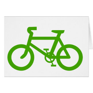 Green Eco Bicycle Greeting Card