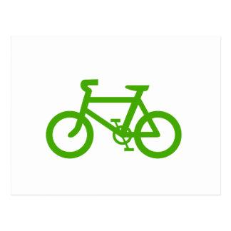Green Eco Bicycle Postcard