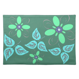 Green examined placemat