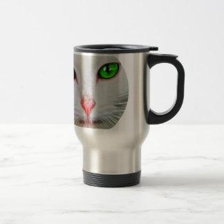 Green Eyes Cat Stainless Steel Travel Mug