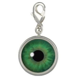 Green Eyes Iris Eye Fun Cool Round Bracelet Charm