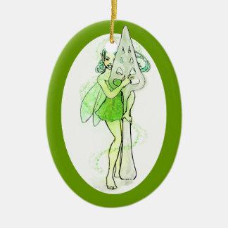 Green Fairy Holding Absinthe Spoon Christmas Ornament