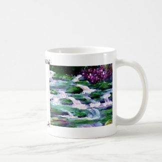 """Green Fairy Waterfalls""  CricketDiane Art Basic White Mug"