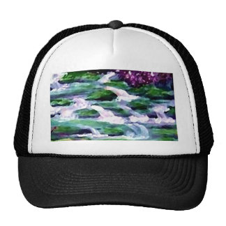 """Green Fairy Waterfalls""  CricketDiane Art Cap"