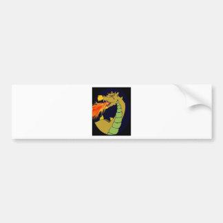 Green Fire Breathing Dragon Bumper Sticker