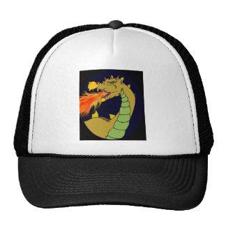 Green Fire Breathing Dragon Mesh Hat