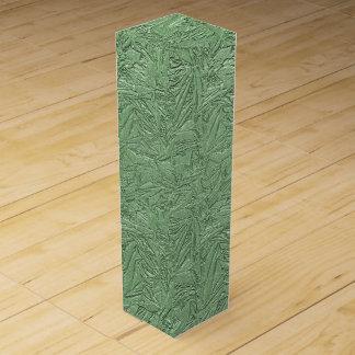 Green Foil Design Wine Box
