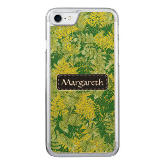 Green foliage carved iPhone 8/7 case