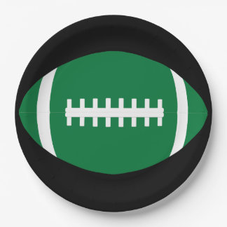 Green Football Team Party or Banquet Paper Plates