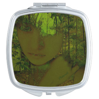 Green Forest Compact Mirror