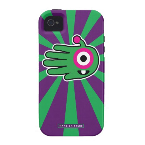 Green Friendly Alien Baby Tooth iPhone 4 Cases