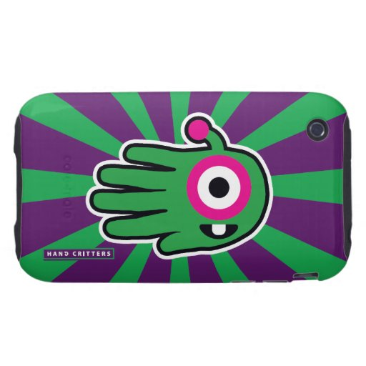 Green Friendly Alien Baby Tooth Tough iPhone 3 Case