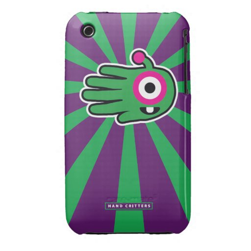 Green Friendly Alien Baby Tooth iPhone 3 Case-Mate Cases