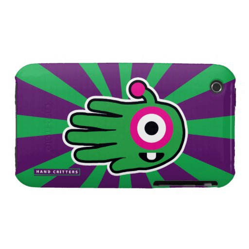 Green Friendly Alien Baby Tooth iPhone 3 Case-Mate Case