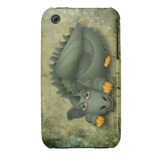 green friendly dragon iPhone 3 Case-Mate cases