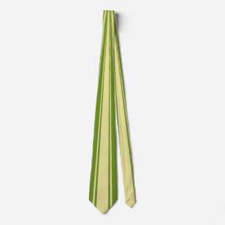 Green Funky Stripe Pattern Tie