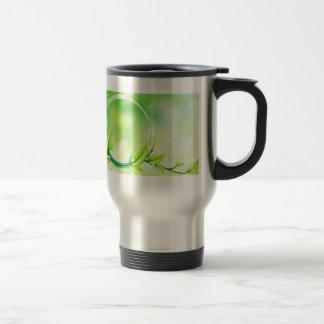 Green Garden Leaves Travel Mug
