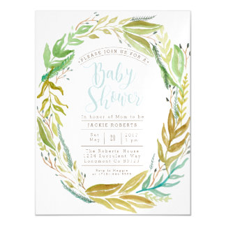 Green Garden | Watercolor Baby Shower Magnetic Magnetic Invitations