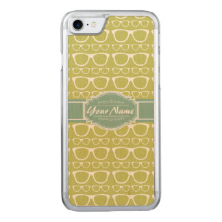 Green Geek Glasses Carved iPhone 8/7 Case