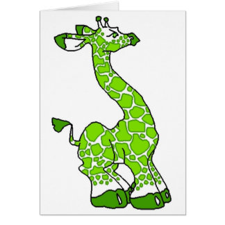 Green Giraffe Card