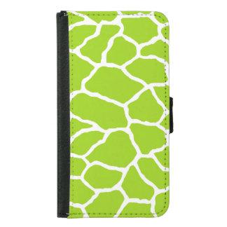 Green Giraffe Print Galaxy S5 Wallet Case