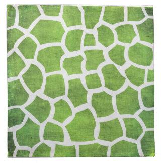 Green Giraffe Print Napkins
