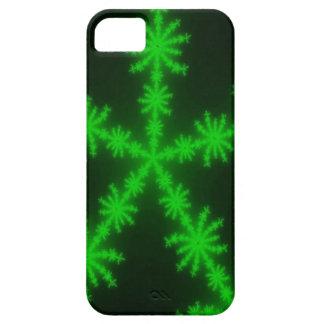 Green Glowing Snowflake Fractal iPhone 5 Case