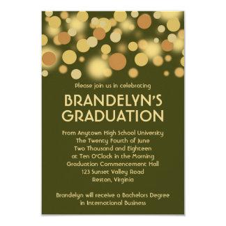 Green Gold Celebration Graduation Announcement