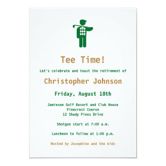 Green Gold Golf Retirement Party Invitation