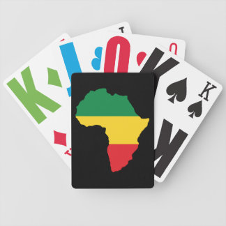 Green, Gold & Red Africa Flag Bicycle Playing Cards