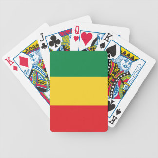 Green, Gold (Yellow) and Red Colors Flag Bicycle Playing Cards