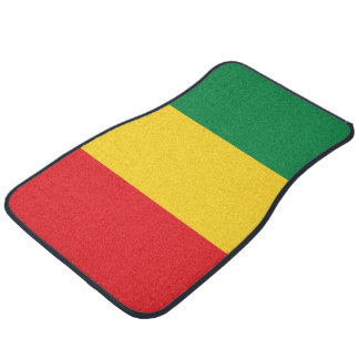 Green, Gold (Yellow) and Red Colours Flag Car Mat
