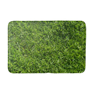 Green grass bath mat