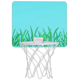 Green Grass & Blue Sky Illustration Mini Basketball Hoop