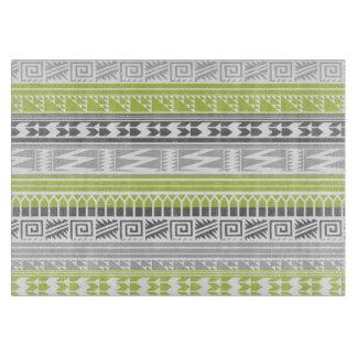 Green Gray Abstract Aztec Tribal Print Pattern