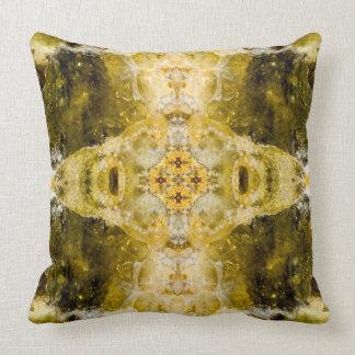 Green grenade I gemstone fractal art pillow