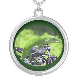 Green Hawaiian Gecko Rider Necklace