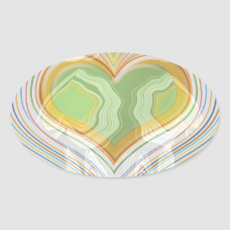 Green Heart Spice Lables Stickers