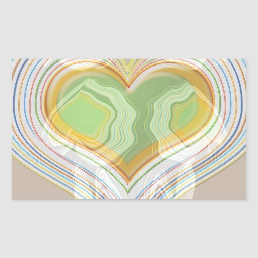 Green Heart Spice Lables Rectangle Sticker