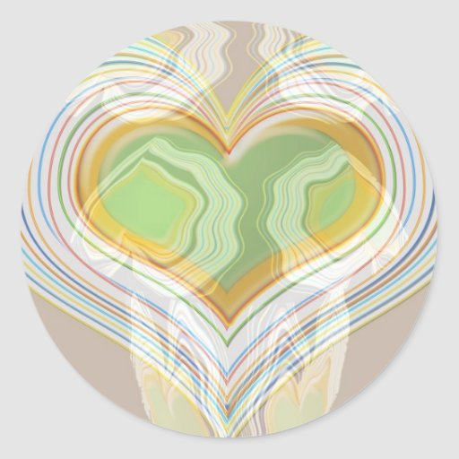 Green Heart Spice Lables Sticker