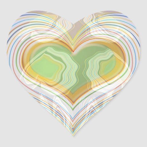 Green Heart Spice Lables Heart Sticker